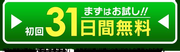まずはお試し!!初回31日間無料 ※2ヶ月目以降から月額380円(税別) ※契約回線1回線につき1回のみの適用となります。